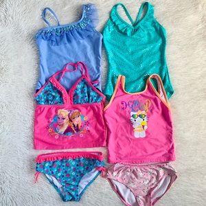 4 Girls Swimsuit Bundle•7/8•EUC